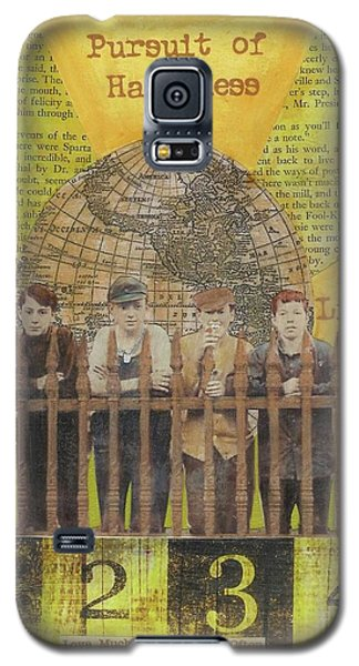 Galaxy S5 Case featuring the mixed media Pursuit Of Happiness by Desiree Paquette