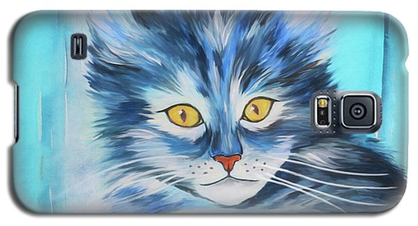 Galaxy S5 Case featuring the painting Pussy Cat by Jutta Maria Pusl