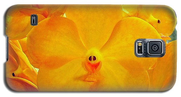 Put On A Happy Face Yellow Orchids Galaxy S5 Case