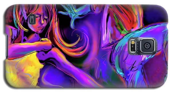 Galaxy S5 Case featuring the painting Put On Your Red Shoes And Dance by DC Langer
