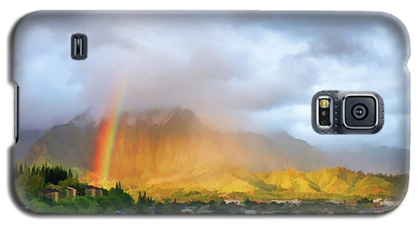 Puu Alii With Rainbow Galaxy S5 Case