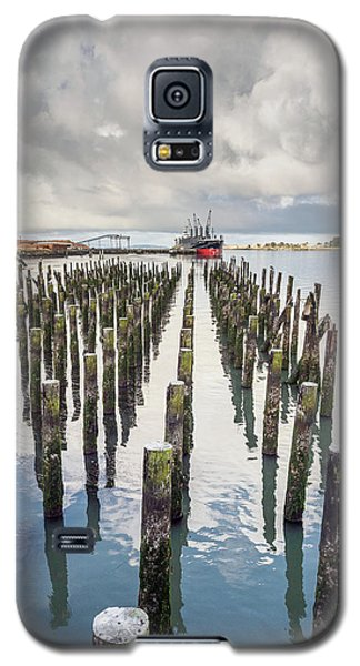 Galaxy S5 Case featuring the photograph Pylons To The Ship by Greg Nyquist
