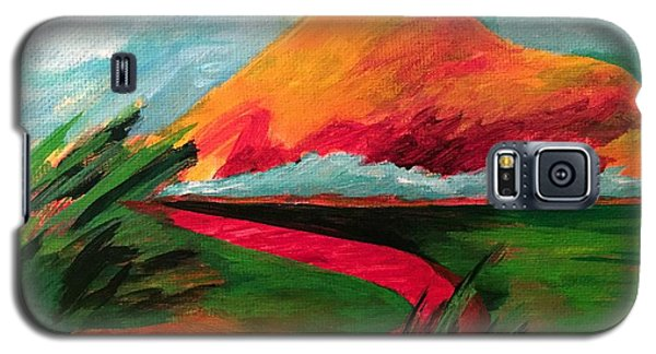 Pyramid Mountain Galaxy S5 Case by Elizabeth Fontaine-Barr