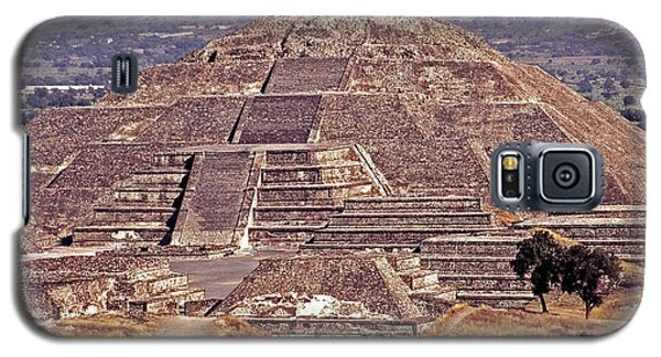 Pyramid Of The Sun - Teotihuacan Galaxy S5 Case by Juergen Weiss