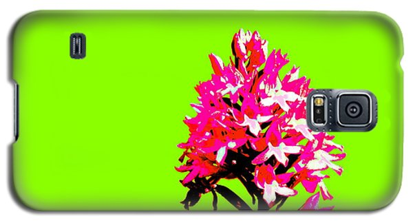 Green Pyramid Orchid Galaxy S5 Case