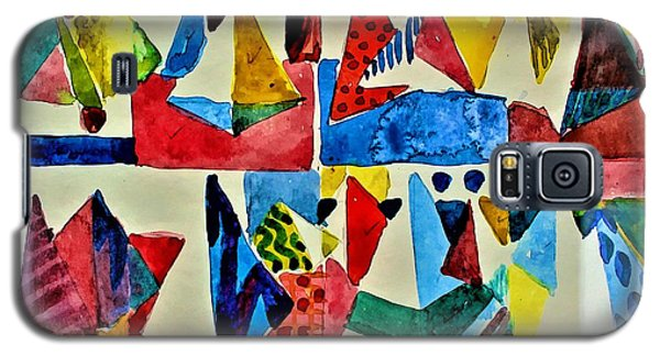 Galaxy S5 Case featuring the digital art Pyramid Play by Mindy Newman