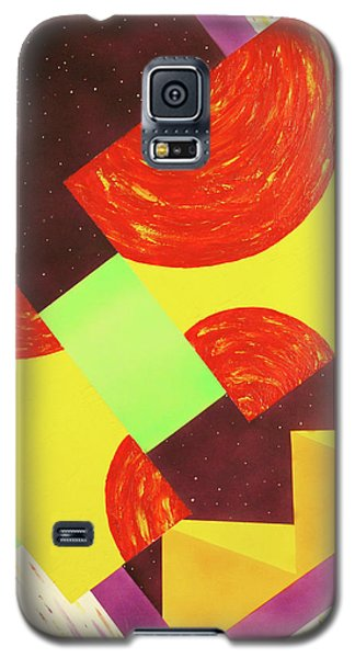 Galaxy S5 Case featuring the painting Pyramids And Pepperoni by Thomas Blood