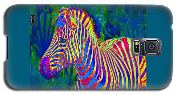 Pyschedelic Zebra Galaxy S5 Case by Jane Schnetlage