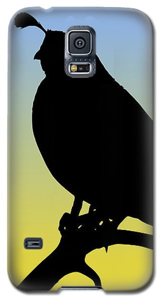 Quail Silhouette At Sunrise Galaxy S5 Case