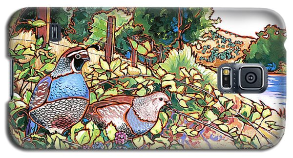 Quails And Blackberries Galaxy S5 Case