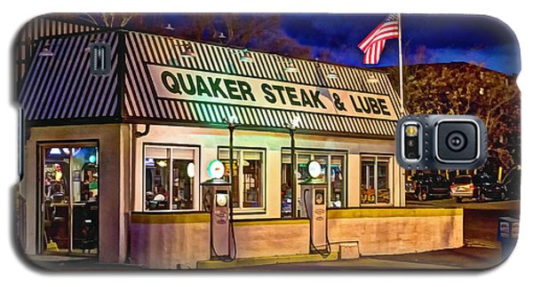 Galaxy S5 Case featuring the photograph Quaker Steak And Lube by Skip Tribby