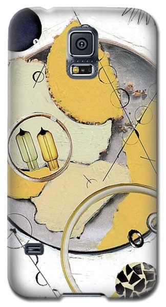 Galaxy S5 Case featuring the painting Quantom Physics by Michal Mitak Mahgerefteh