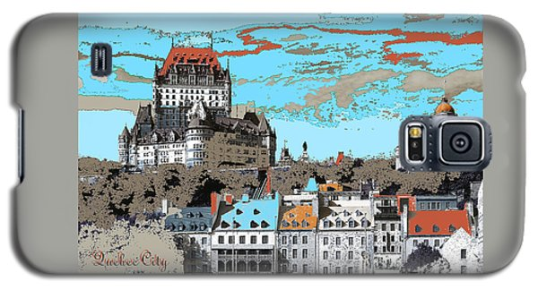 Quebec City Canada Poster Galaxy S5 Case