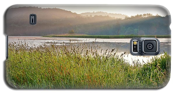 Galaxy S5 Case featuring the photograph Quechee Sunrise by Susan Cole Kelly