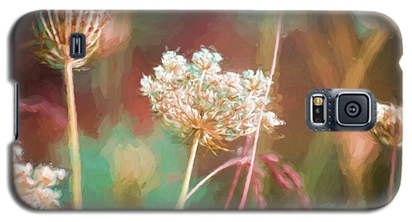 Galaxy S5 Case featuring the digital art Queen Anne Impasto by Bonnie Bruno