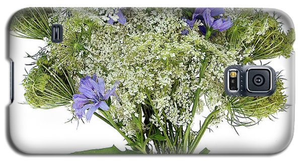 Queen Anne's Lace With Purple Flowers Galaxy S5 Case