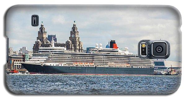 Queen Elizabeth Cruise Ship At Liverpool Galaxy S5 Case