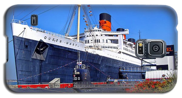 Galaxy S5 Case featuring the photograph Queen Mary Ship by Mariola Bitner