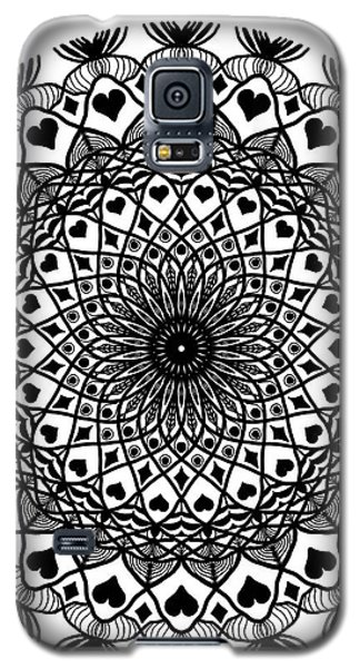 Queen Of Hearts King Of Diamonds Mandala Galaxy S5 Case