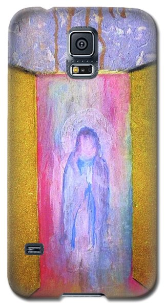 Galaxy S5 Case featuring the painting Queen Of Heaven by Mary Ellen Frazee