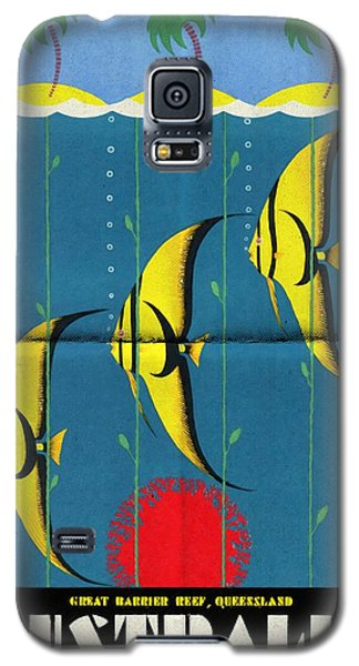 Queensland Great Barrier Reef - Vintage Poster Folded Galaxy S5 Case