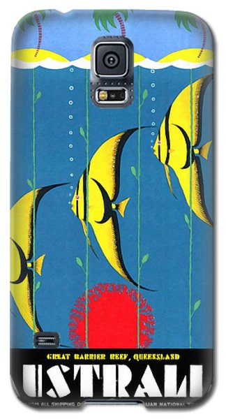 Queensland Great Barrier Reef - Restored Vintage Poster Galaxy S5 Case