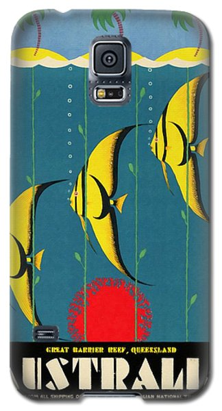 Queensland Great Barrier Reef - Vintage Poster Vintagelized Galaxy S5 Case