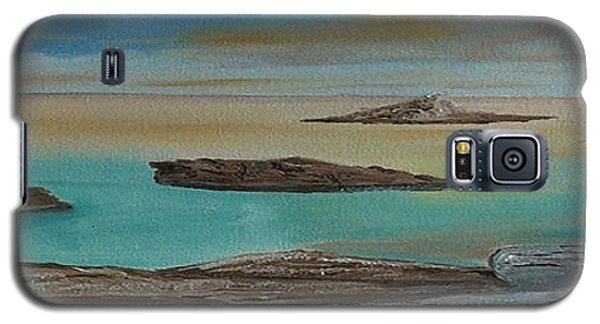 Galaxy S5 Case featuring the painting Quiet Tropical Waters by Rod Jellison