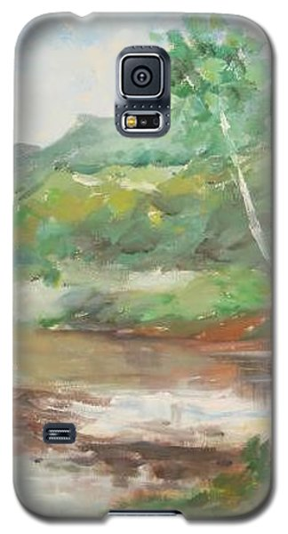 Galaxy S5 Case featuring the painting Quietness by Rushan Ruzaick