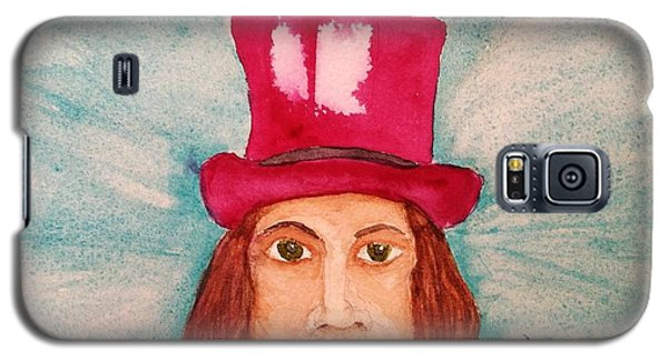 Galaxy S5 Case featuring the painting Quinacridone Hat by Rand Swift