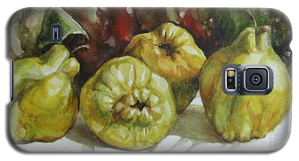 Galaxy S5 Case featuring the painting Quinces by Elena Oleniuc