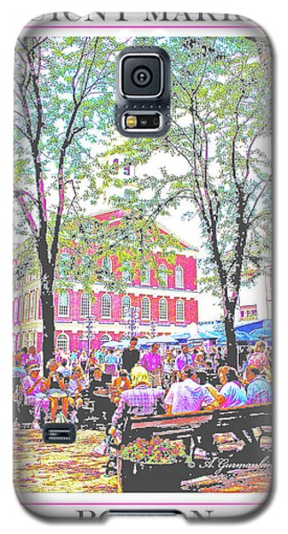 Quincy Market, Boston Massachusetts, Poster Image Galaxy S5 Case