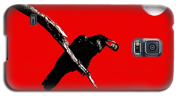 Quoth The Raven Nevermore . Red Galaxy S5 Case