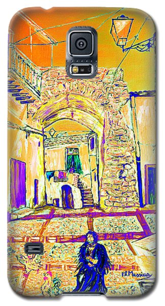 Galaxy S5 Case featuring the painting Rabato  by Loredana Messina