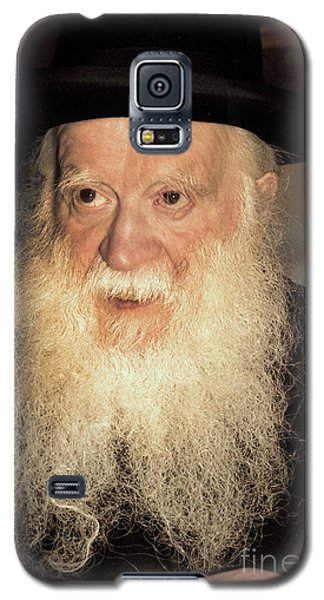 Galaxy S5 Case featuring the photograph Rabbi Yehudah Zev Segal by Doc Braham
