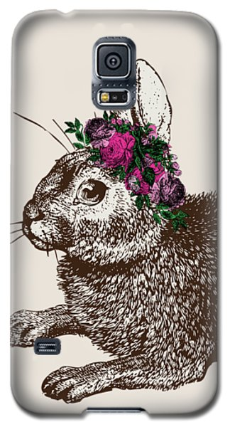 Rabbit And Roses Galaxy S5 Case by Eclectic at HeART