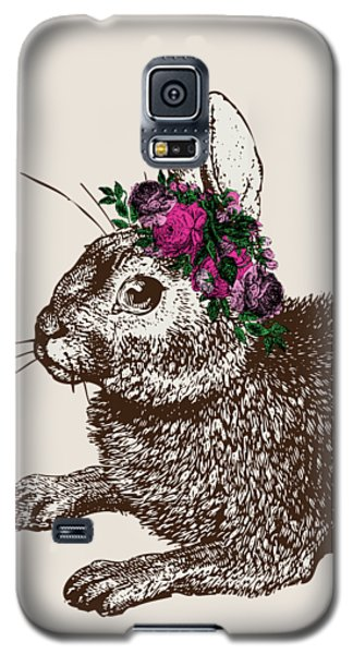 Rabbit And Roses Galaxy S5 Case