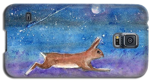 Rabbit Crossing The Galaxy Galaxy S5 Case by Doris Blessington