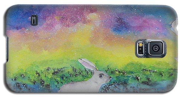 Rabbit In Galaxy 5 Galaxy S5 Case by Doris Blessington