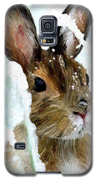 Rabbit In Snow Galaxy S5 Case by James Shepherd