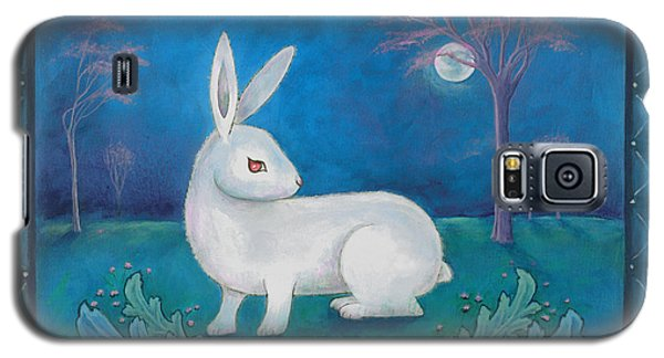 Galaxy S5 Case featuring the painting Rabbit Secrets by Terry Webb Harshman
