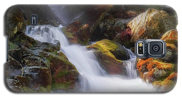 Galaxy S5 Case featuring the photograph Race Brook Falls 2017 Square by Bill Wakeley