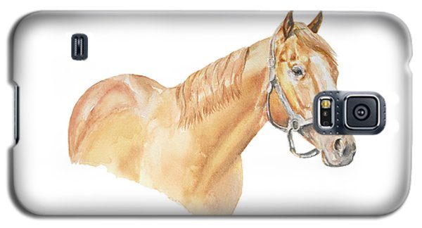 Galaxy S5 Case featuring the painting Racehorse by Elizabeth Lock