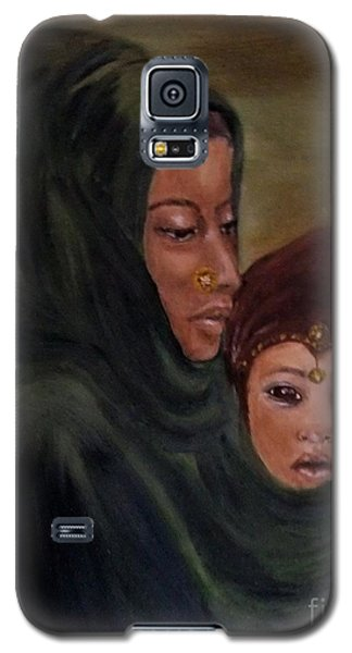 Galaxy S5 Case featuring the painting Rachel And Joseph by Annemeet Hasidi- van der Leij