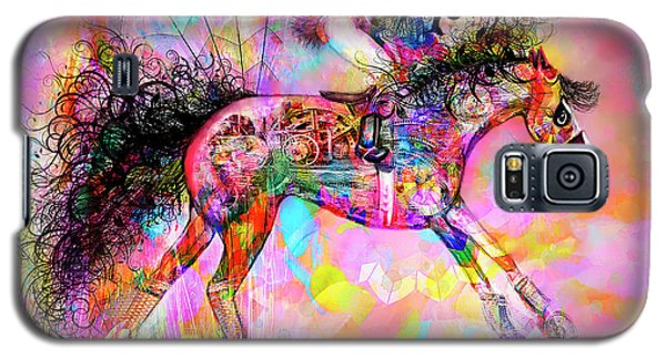 Galaxy S5 Case featuring the digital art Racing For Time by Kari Nanstad