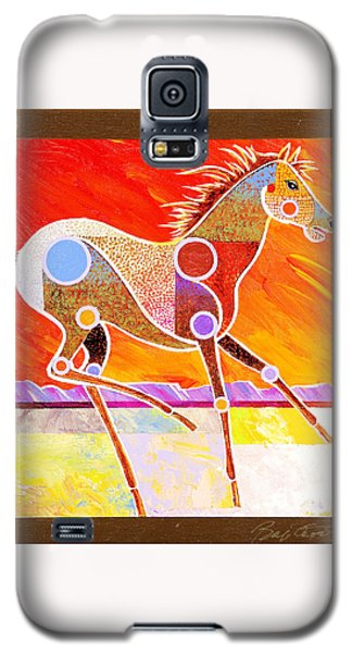 Galaxy S5 Case featuring the painting Racing The Desert by Bob Coonts