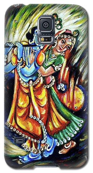 Galaxy S5 Case featuring the painting Radhe Krishna by Harsh Malik