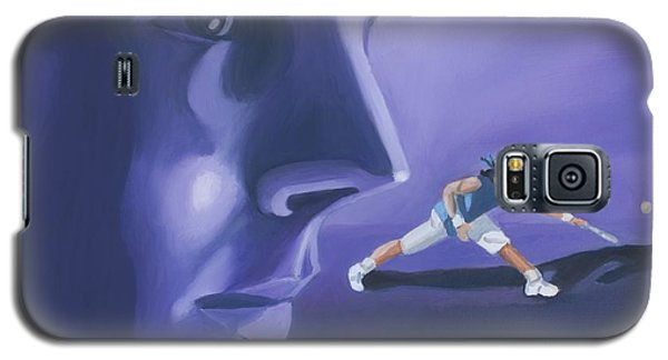 Galaxy S5 Case featuring the painting Rafael Nadal by Quwatha Valentine