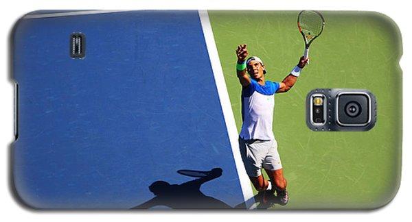 Rafeal Nadal Tennis Serve Galaxy S5 Case by Nishanth Gopinathan