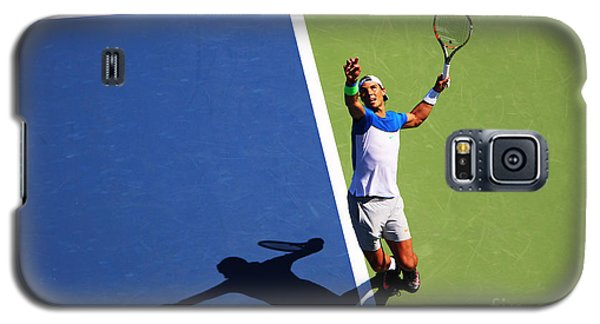 Rafeal Nadal Tennis Serve Galaxy S5 Case by Nishanth Gopinathan